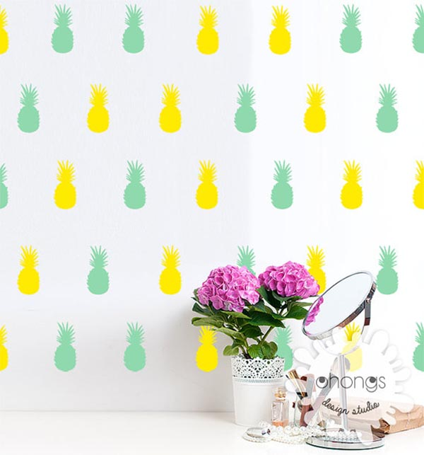 Pineapple Wall decals. These are so cool!