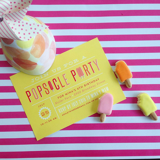 10 Fantatic Popsicle party Invites!