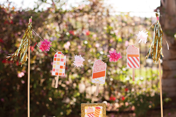 Cute Popscile Party Decor Banner!