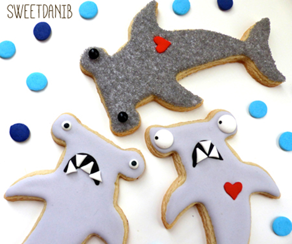 We love these hammerhead shark cookies!
