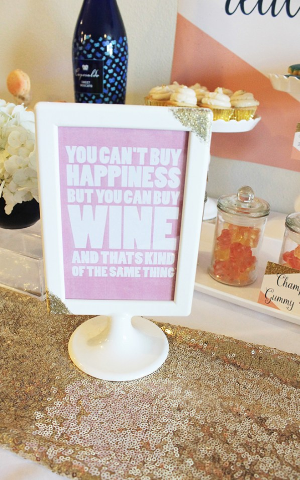 Girls Night In Wine Sign