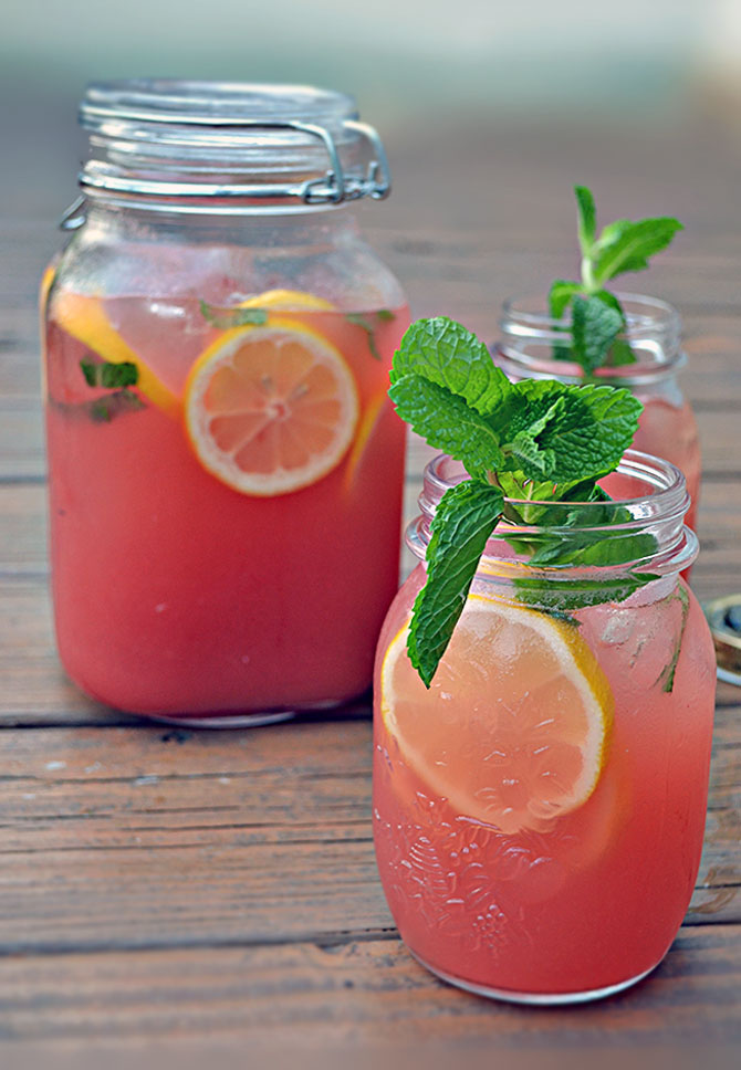 Watermelon Mint Lemonade with a twist!