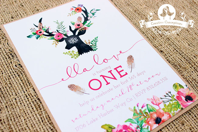 Lovely Woodland Party Invitations B Lovely Events