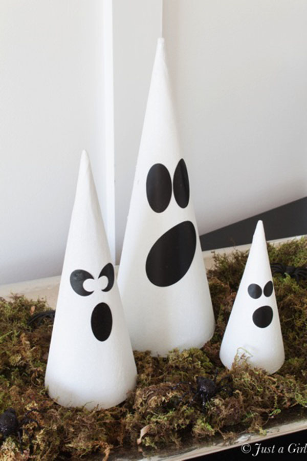 cute little ghost done decorations for halloween