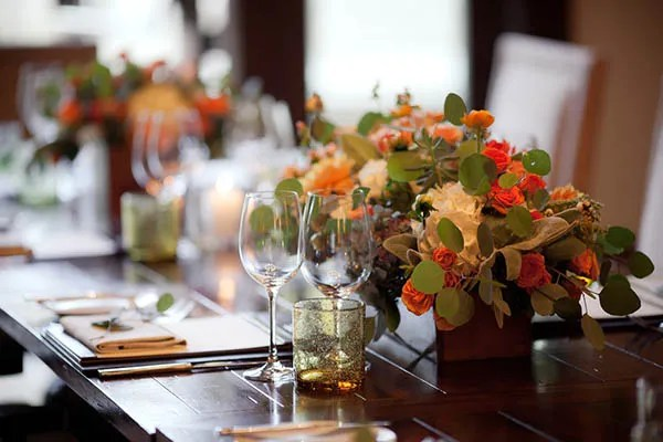 Love this Fall wedding centerpiece