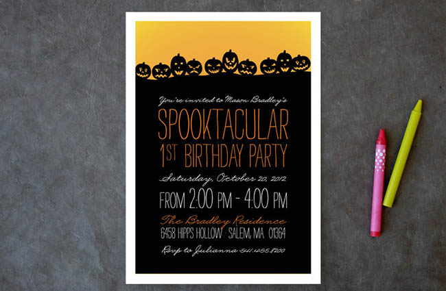 Spooktacular Pumpkin Halloween Invitations!
