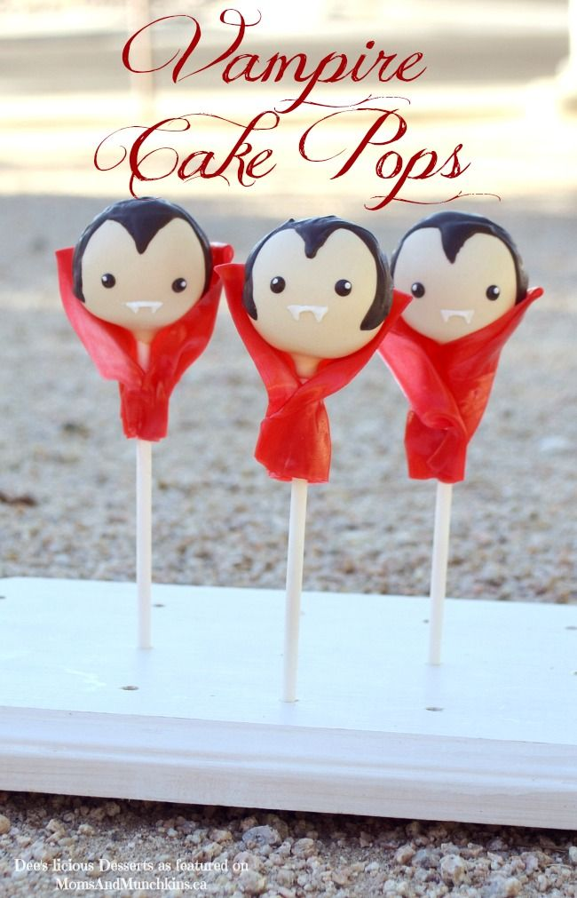 Vampire cake pops, so cool!