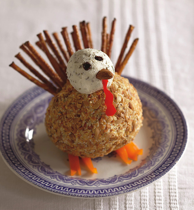 Herbed Turkey Cheese ball appetizer!