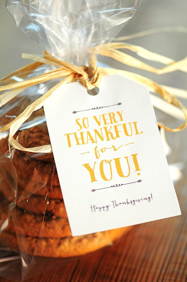 Thanksgiving Free printable tag!
