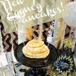 New Year's Eggnog Pancakes!