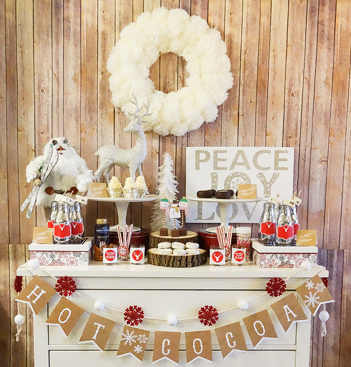 Rustic & Cozy Hot Cocoa Bar