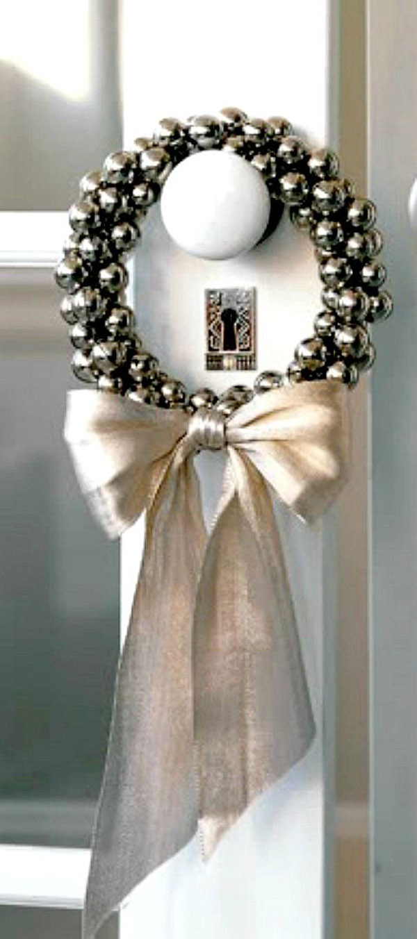 White Christmas Bell wreath