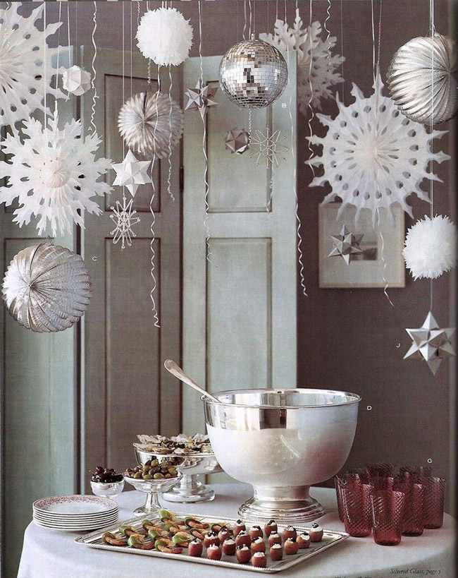 White chirstmas Party Decorations