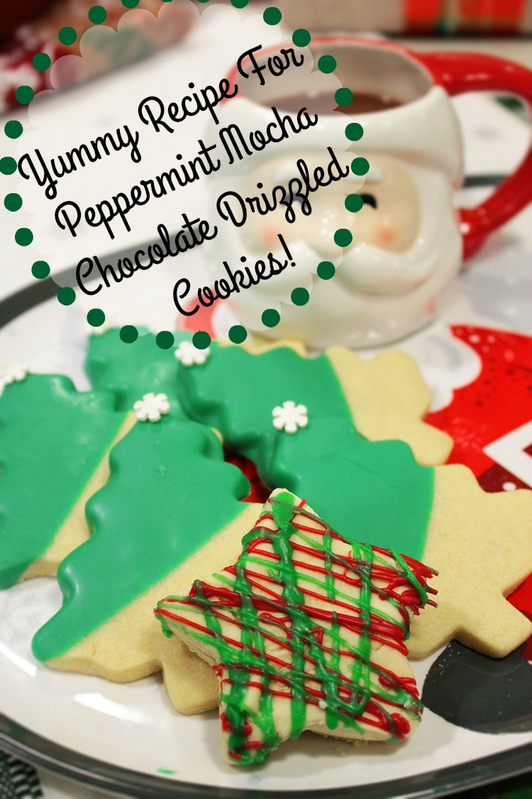 Yummy Festive Flavors-Peppermint Mocha Chocolate Shortbread Cookies