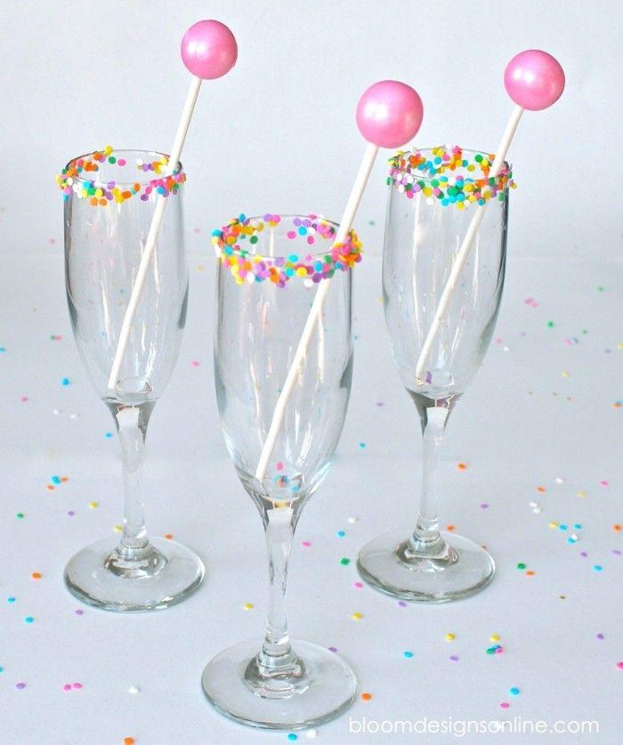 Fun Sprinkle Rim Glasses