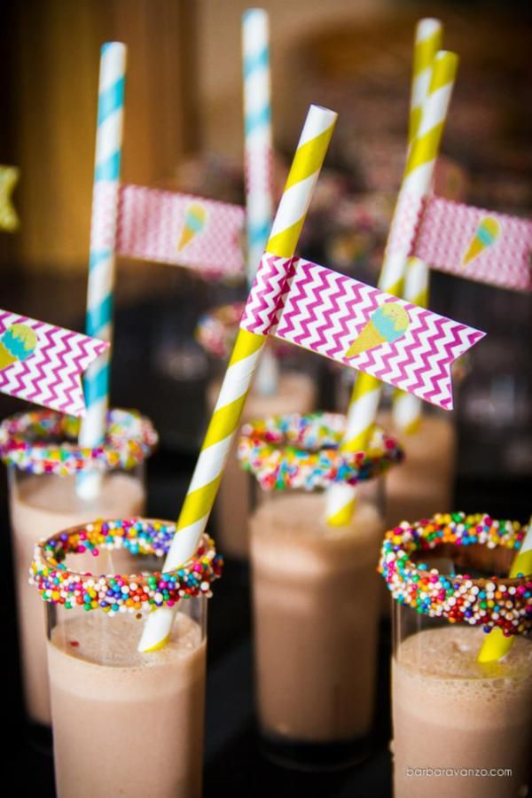 Mini Milkshake Sprinkle rim drinks