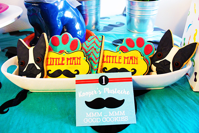 Pupstachio Puppy Party Cookies - B. Lovely Events