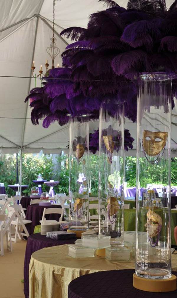 Mardi Gras Centerpieces! so Pretty!