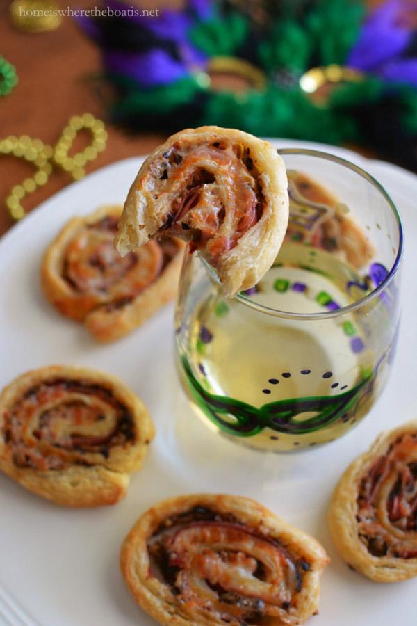 Muffuletta Pinwheels For Mardi Gras
