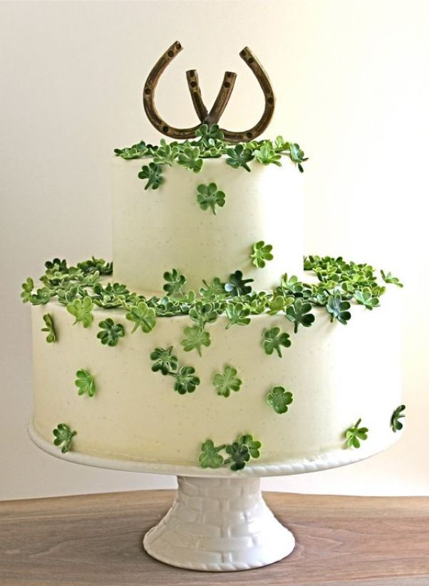 Seriously lovely shamrock cake! See More Inspiring Shamrock Cakes On The Blog! - B. Lovely Events