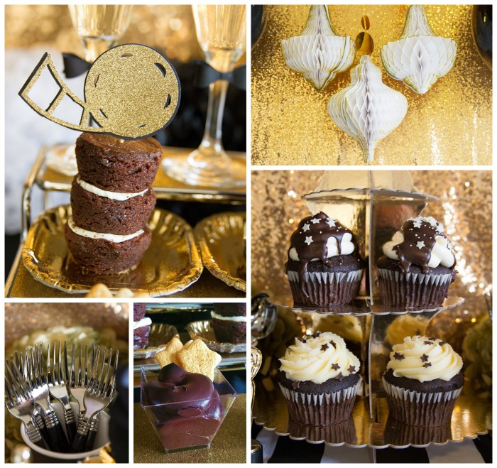 Tuxedo Black And Gold Oscar Viewing Party! See More Love ideas On The Blog!- B. Lovely Events