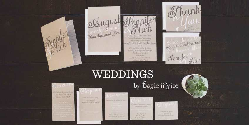 Wedding Invitaitons From basic Invite