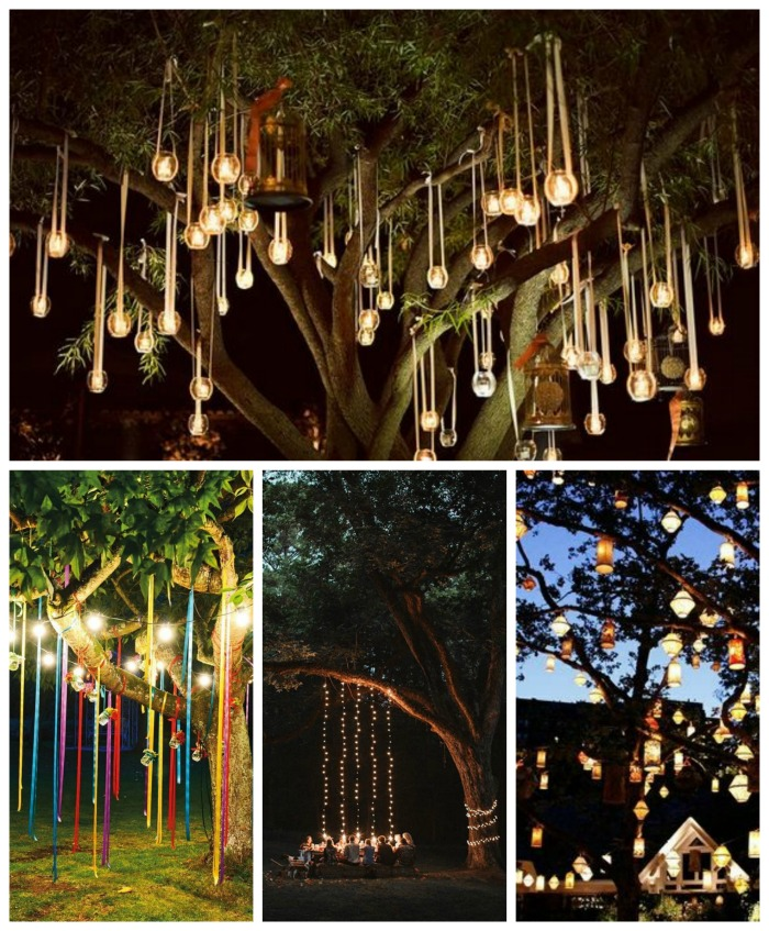 Beautifully Lit Tree Decorations WIth Candles & Lights- B. Lovely Events