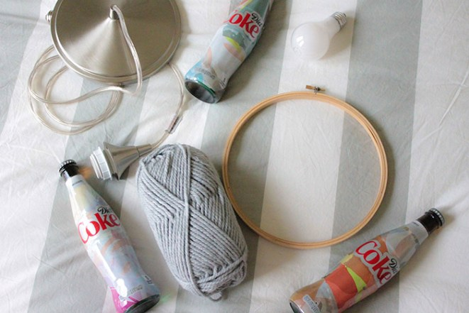 DIY Bottle Chandelier With Diet Coke Its Mine Bottles! -Get The Full Tutorial From B. Lovely Events
