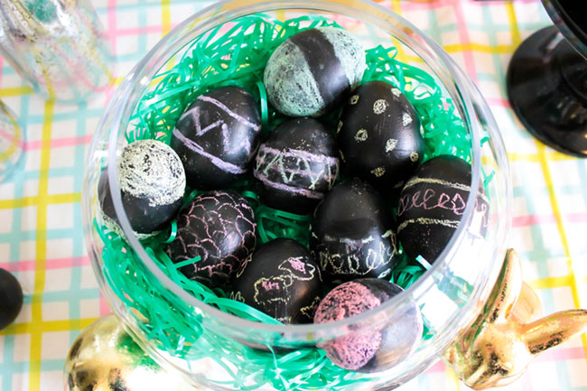 DIY Chalkboard Easter Eggs! -Learn The How To On B. Lovely Events
