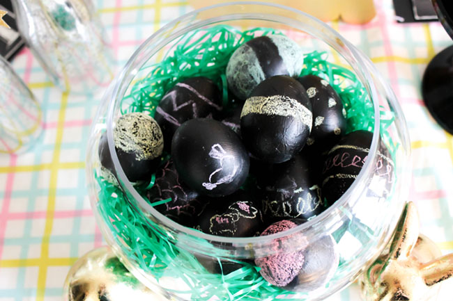 DIY Easter Eggs-Chalkboard Style -Learn The How To On B. Lovely Events