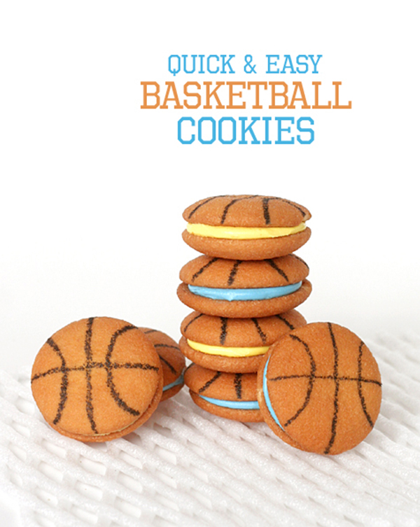 Fun ANd Easy DIY March Madness Basketball cookies! - See More March Madness Basketball Snacks On B. Lovely Events