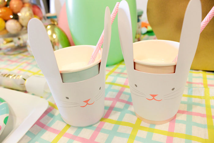 Love These Easter Bunny Cups for Easter!- See more at B. Lovely Events