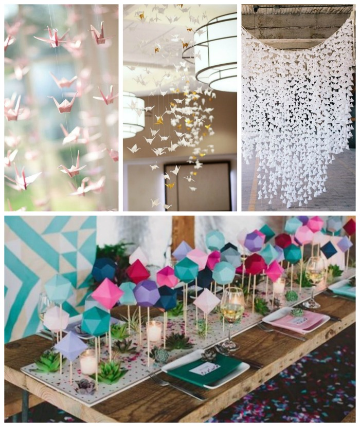 Lovely Origami Decoration Ideas! -B. Lovely Events