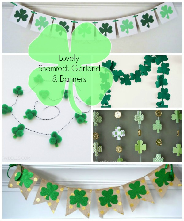 See 10 Lovely Shamrock Banners & Garlands On The Blog! B. Lovely Events