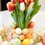 Lovely Tulip Easter Centerpiece- See more at B. Lovely Events