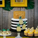 Beautiful Black and white pineapple cake