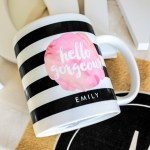 Black and White Striped Mug Mothers Day Gift!