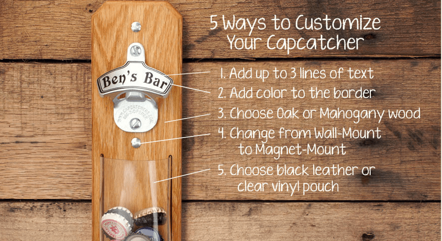 Custom Beer opener from Capcatchers - Perfect Bridal Party Gift!