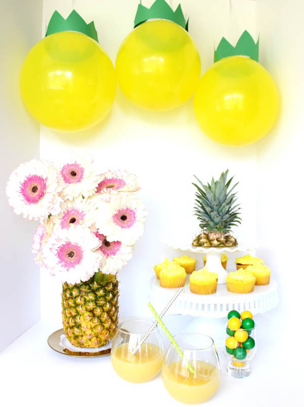 Fun DIY Pineapple Party - See more amazing party trends for 2016 at B. Lovely Events!