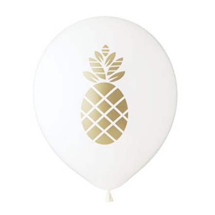Fun gold Pineapple Balloons! - See More Lovely Pineapple Party Ideas At B. Lovely Events!