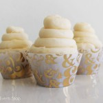 Gold ampersand cupcake wrappers- See The new gold cupcake wrappers at B. Lovely Events Shop
