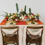Lovely Cactus Dinner table - See more amazing party trends for 2016 at B. Lovely Events!