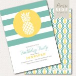 Lovely Pineapple Party Invitations