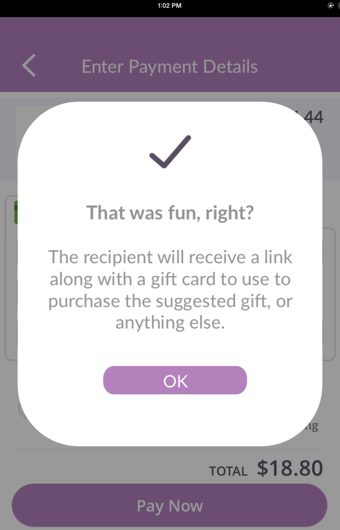 Simple and Easy Email and text gift giving with Evite Instant Gifts!