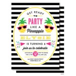 Striped Pineapple party invitations!