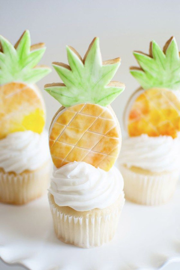 The cutest pineapple cookies! - See More Lovely Pineapple Party Ideas At B. Lovely Events!