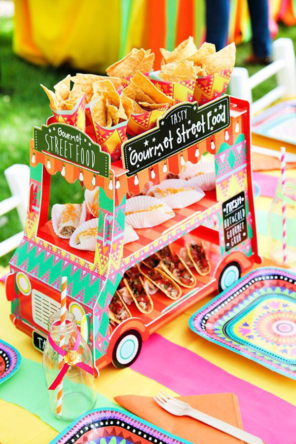 Fun Taco Cart- Great for a taco party! - See more lovely Taco Bars On B. Lovely Events