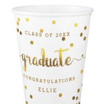 Love this Zazzle Gold Confetti Graduation Cup- See More Gold Graduation Ideas on B. Lovely Events