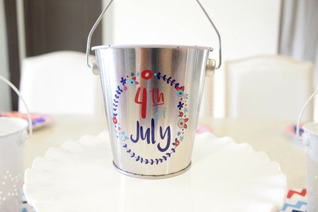 4th Of july Decorations, Such a cute pail!- B. Lovely Events