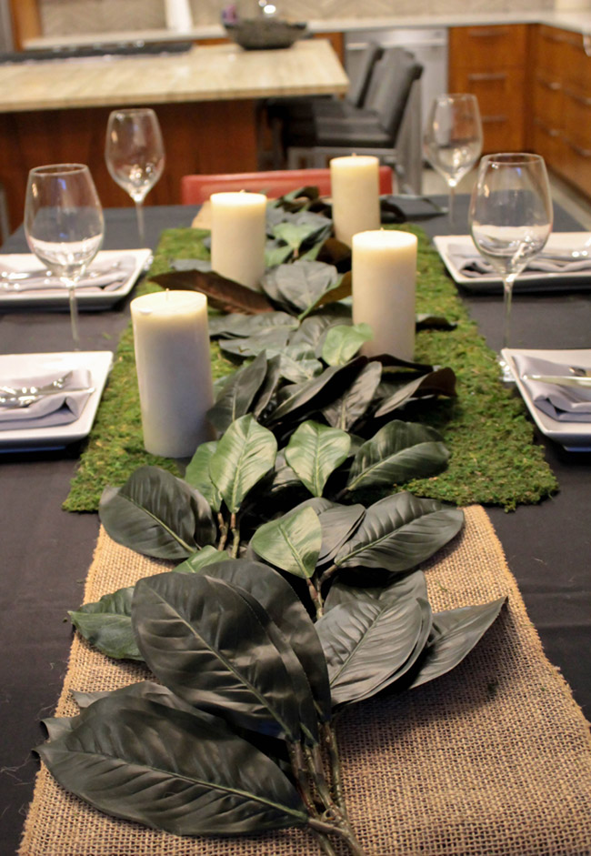 DIY Magnolia Leaf Centerpiece (1) -Learn How To Make Them On B. Lovely Events